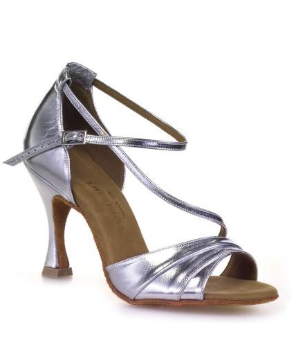 chaussures-danse-salon-cuir-argent-elegantes